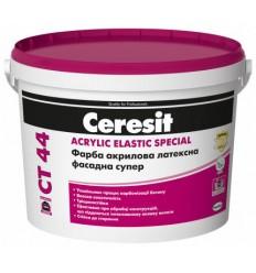 Ceresit CT 44 фарба акрилова латексна фасадна супер База С (прозора), 10 л