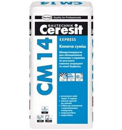 СМ-14 Express Ceresit быстротвердеющий клей, 25кг