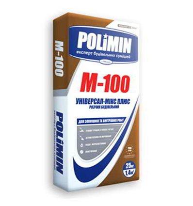 ПОЛИМИН раствор строительный Polimin М-100, 25 кг