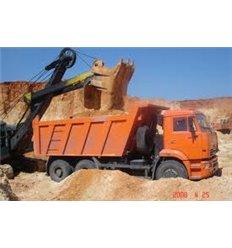 Песок овражный (карьерный) навалом, 5т с доставкой по Киеву